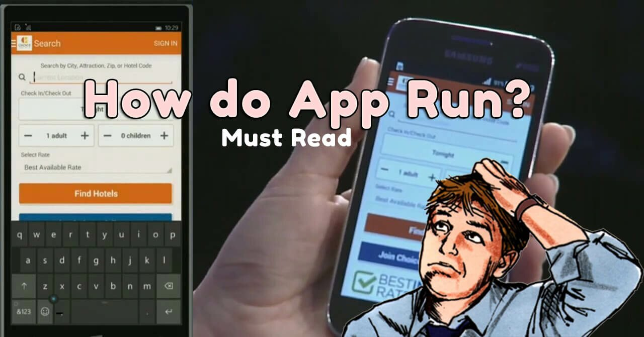 how do app run