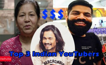 top 3 indian youtubers