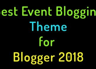 best event blogging theme for blogger